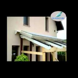 Retractable ALUMINUM LOUVERED ROOF SYSTEM FOR PERGOLAS PATIOS SKYLIGHTS
