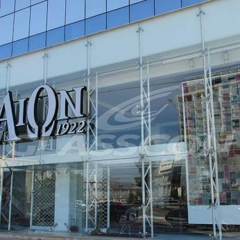 Spider Glass Curtain Wall on Steel Substructure Truss Glasscon 09.jpg